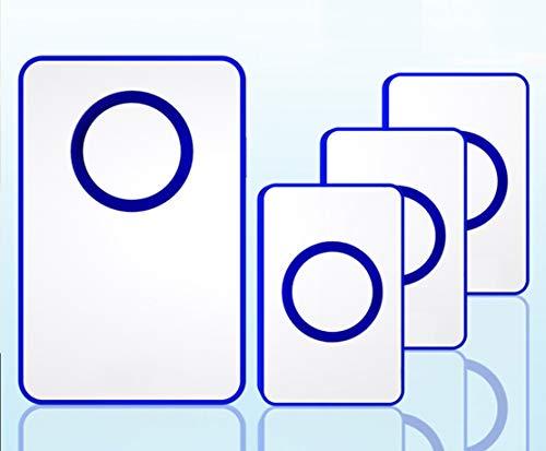 JFSKD draadloze digitale deurbelset, 3 zenders en 1 ontvanger, 36 muziekgeluiden, 4 volumes, waterdicht design, led-knipperlichten, geen overspreken, sterk binnendringen
