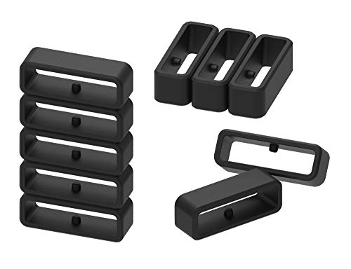 Ruentech - Pulsera para Garmin Forerunner/Fenix/Samsung Gear S3/Fitbit Versa/Inspire/Charge 3/Suunto/Tomtom Smartwatch, Color Black-22mm