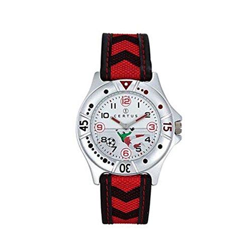 Certus 647472 - Orologio da polso, pelle, colore: rosso