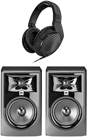 305P MkII Powered 5 Two Way Studio Monitor Pair Bundle with Headphones product image