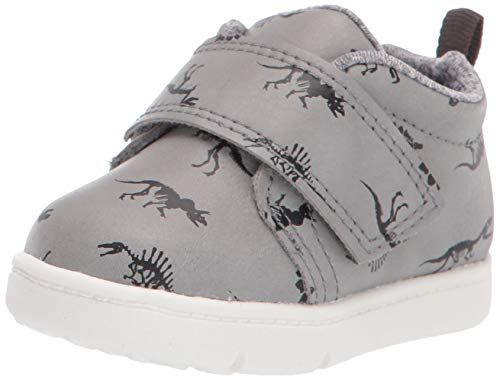 Carter's Every Step Girls' Infant 1st Walker Frodi Novelty high top Sneaker, Black, 4.5 M US Toddler