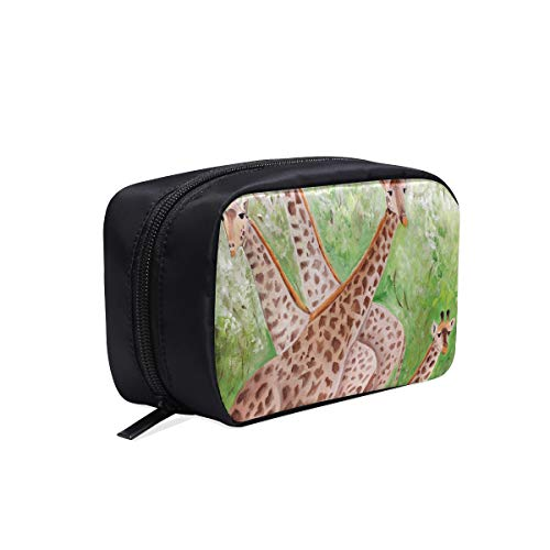 Bolso de viaje cosmético para mujer Pintura original Jirafas hermosas Masai Mara Maquillaje Bolsa de viaje Bolsa de viaje pequeña y cómoda Bolsas de cosméticos para hombres Bolsas de cosméticos Estuc