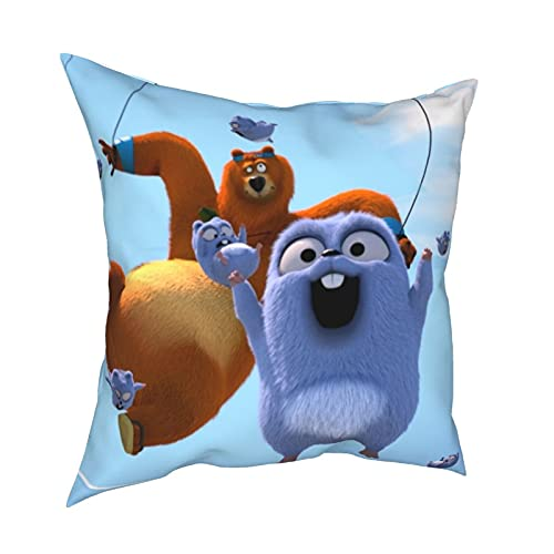 Elch Cartoon Season 3 Gri-zzy and Lem-mings Spider Throw Pillow Cover Sofa with Waterproof Birthday 30,5 x 30,5 cm