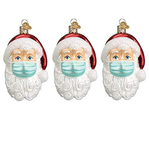 Moilant 2020 Weihnachten Dekorationen,Personalisierte Weihnachtsmann mit Maske,Feiertage Dekorationen Segen Weihnachtsmann Weihnachtsbaum Hängen Anhänger (3pcs Weihnachtsmann)