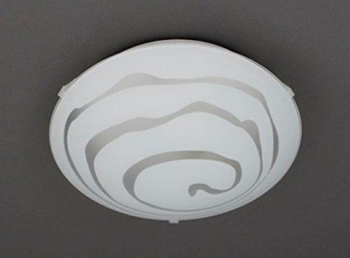 Trango Design Glas Deckenleuchte TG1004 Deckenlampe Badleuchte mit E27 Fassung passen für alle LED Leuchtmittel direkt 230V