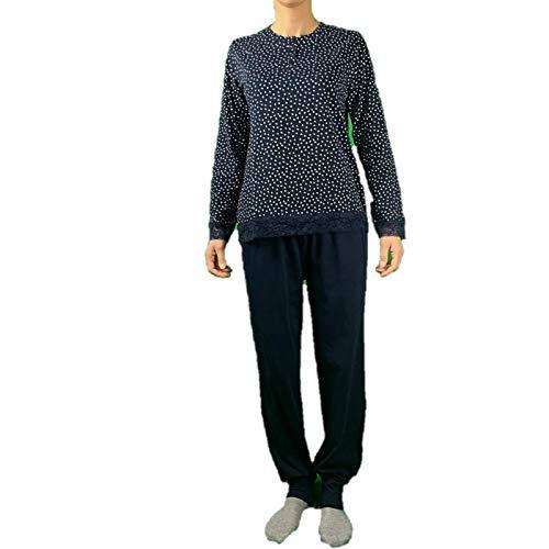 Infiore Pijama de mujer puro algodón art. VAT0461 turquesa X-Large