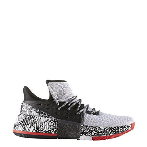 adidas Dame 3 Shoe - Men's Basketball 8.5 White/Core Black/Core Red