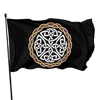 Irish Shield Warrior Celtic Cross Knot 3x5 Foot Flag Outdoor Flag 100% Single-Layer Translucent Polyester 3x5 Ft Flag