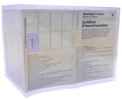 Etuis carte grise PVC transparent - Protège votre carte grise - Resistant - Lot de 4