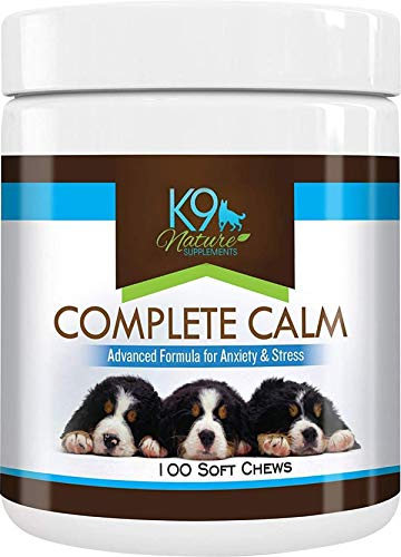 K9 Nature Supplements: Complete Calm - 100 Soft Chews for Dogs - Advanced Formula for Anxiety & Stress Support - Natural, Herbal Treats - Calming Supplement for Pets