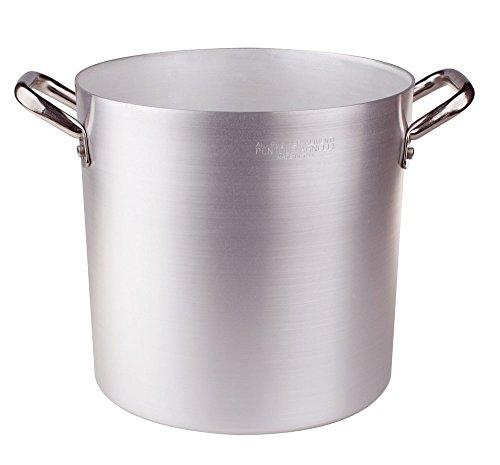 Ollas Agnelli Pan de Aluminio, con Dos Asas de Acero Inoxidable, 94 litros, Plata