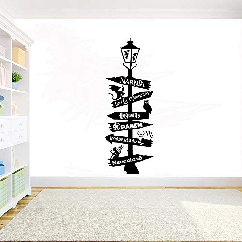 AGjDF Wonderland Planet Vinyl Wall Decal Quote Logo DIY Etiqueta de la Pared interior156x57cm