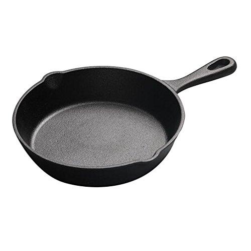 IPOTCH Eisenpfanne Gusseisen Pfanne Eier Bratpfanne, schwarz - 14 cm