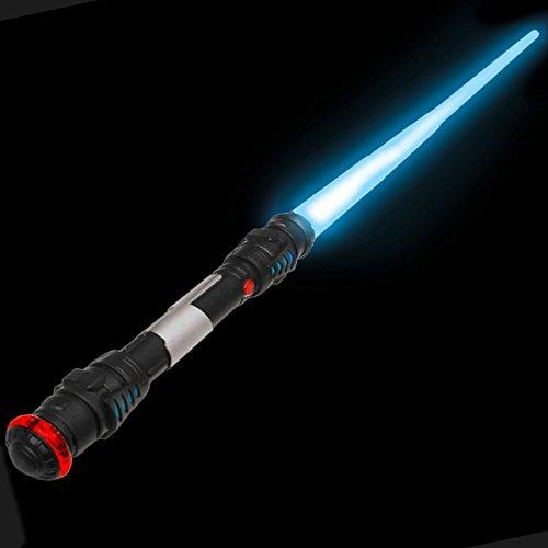 Laserschwert Lichtschwert Laser Sword 108 cm Schwert mit Licht, Sound & Vibration (Blau)