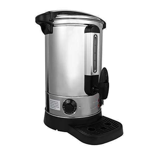 Hengda Glühweinkocher aus Edelstahl, 8 Liter Füllstandsanzeige, 1500 Watt, Thermostat und Überhitzungsschutz Heißgetränkespender