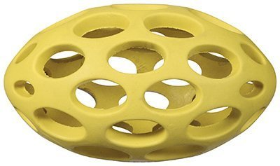 JW Pet Company Hol-ee Football Size 5 Rubber Dog Toy, Small, Colors Vary by JW Pet