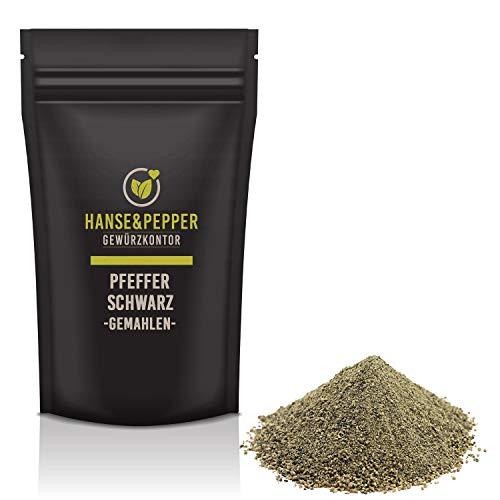1kg Pfeffer Schwarz gemahlen Pulver Universalgewürz 1A Qualität - Gourmet Serie
