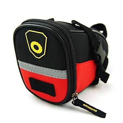 Bolsa impermeable de la bolsa de la bicicleta de montaña bolsa de sillín impermeable de la cola de la bicicleta bolsa de bolsas reflectantes de ciclismo bolsa de herramientas, rojo