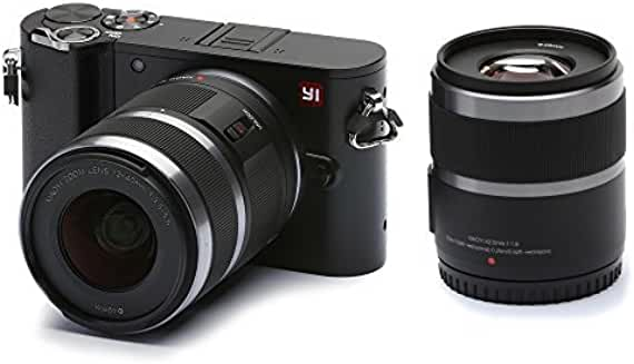 YI 20MP 4K UHD Mirrorless Digital Camera w/12-40mm & 42.5mm Lens
