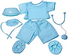 """Doctor \\""""Scrubs\\"""" Outfit Teddy Bear Clothes Fits Most 14\\"""" - 18\\"""" Build-A-Bear and Make Your Own Stuffed Animals"""