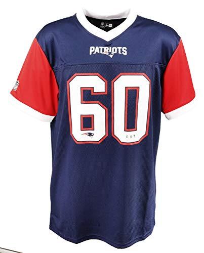 New Era New England Patriots T Shirt NFL Herren Damen New Era Weiß Blau Rot Tri Colour - L
