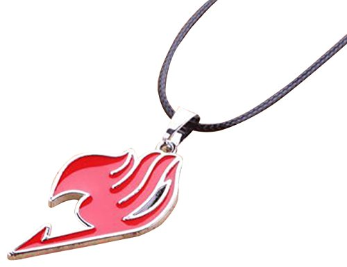 New Costume Anime Fairy Tail Natsu Dragneel Guild Cosplay Red Pendant Necklace Accessories Party by NuoYa