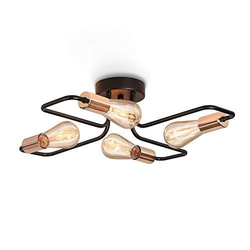 ENCOFT Lámpara de Techo Vintage Candelabros Lámparas Colgantes Retro Elegante Lámpara Industrial E27 Iluminación de Metal...