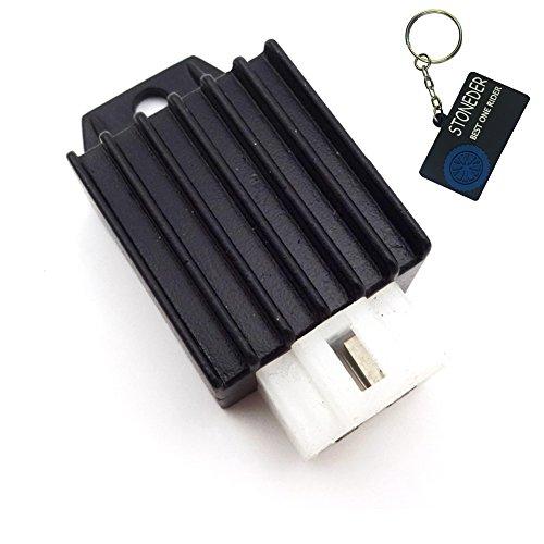 Spannungsregler, 4-polig, 12 V, Gleichrichter für 50ccm, 70ccm, 90ccm, 110ccm, 125ccm, 150ccm Enduro, Geländemotorrad, Quad etc. - Stoneder
