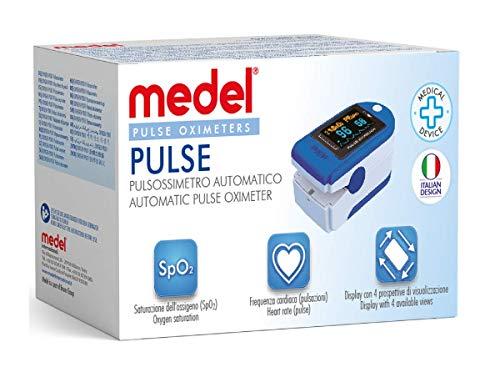 Medel Pulse 95262 Pulsossimetro SPO2 dito Saturimetro da dito professionale per Misurazione...