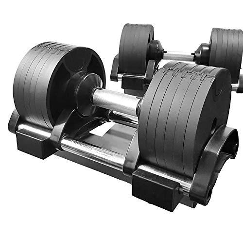 Adjustable Dumbbell Solid Steel Core Fitness Weight Set by Affordable Dumbbells Adjustable Weights Space Saver Dumbbells for Home 40KG / 64KG,64KG(32KGx2)