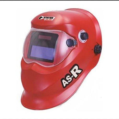 Stayer 1.1792 - Máscara de soldadura 92x42mm 1-25000s/0.2-0.8s -5ºC-55ºC 430 gr AS-R, rojo