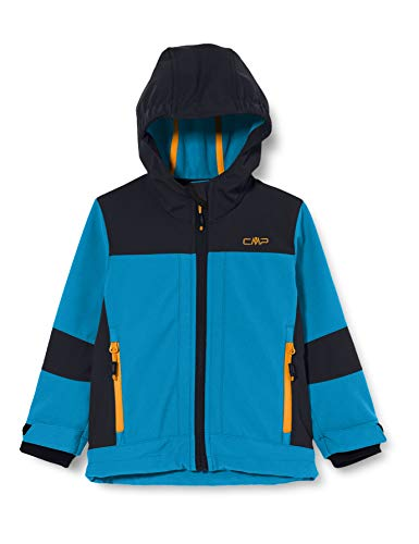 CMP Jungen Softshell Jacket with ClimaProtect WP 7.000 Technology Jacke, Blue Teal, 98