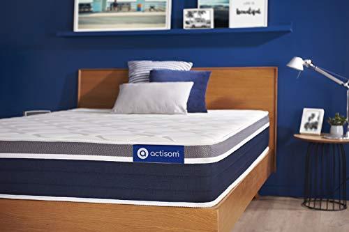 Materasso Actiflex confort 80x210cm, Spessore : 26 cm, Molle insacchettate e memory foam, Moderatamente rigido, 7 zone di