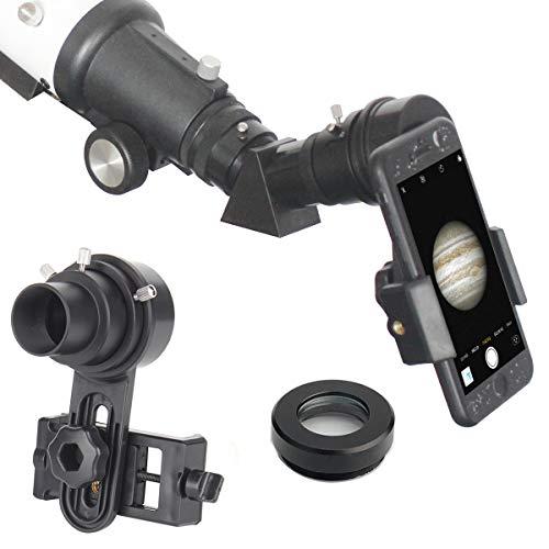 Gosky - Adaptador de teléfono telescópico de alineación rápida para teléfono móvil, Compatible con prismáticos monocular