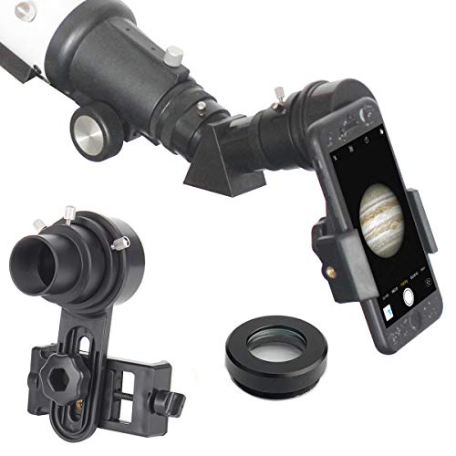 Gosky 1.25' Telescope Phone Adapter - 2019 Newest Updated Quick Aligned Smartphoto Adapter Mount for Refractor & Reflector Telescope with Built-in 1.5X Barlow Lens