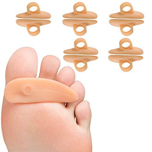 Welnove Dispositivo de sujeción para dedo del pie, con puntera antideslizante, para dedo del pie en martillo