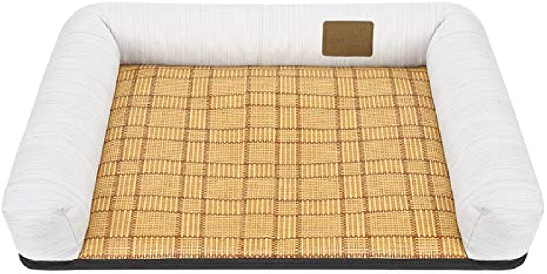 DLwbdx Cat's nest, dog's nest, grass mat, sofa mat, small and large dog's nest,Light grey,S small