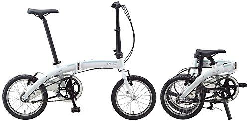 16Pulgadas Bicicleta plegable Dahon Curve i3, 3marchas Color Blanco bicicleta plegable para