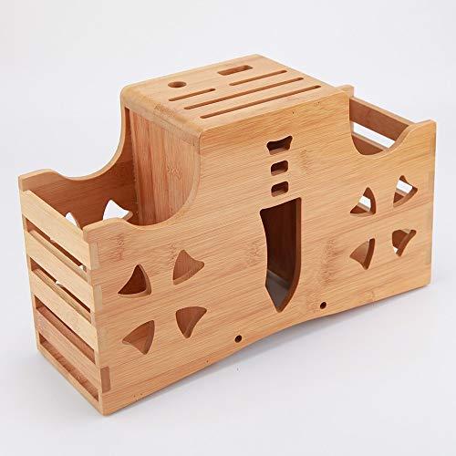 DKGBN Besteck-Aufbewahrungsbehälter, Multifunktionsmesserhalter for Wandmontage, Holz Menage Besteckkorb Küchen Container Küche oder Picknick