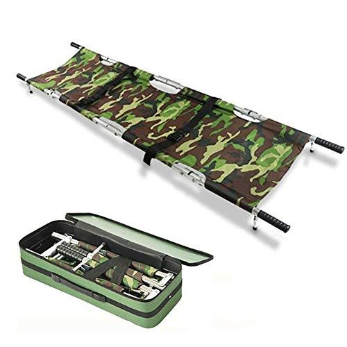 Yajun Civière Pliable Portable Ménage Simple en Alliage D'Aluminium Multifonctionnel Camp Ceinture De Sécurité Transport Unité avec Sac De Rangement