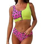 Bañadores Bandeau Mujer Natacion Trajes de Baño Mujer Bikinis Talle Alto Tallas Grandes Trikini Banadores Mujeres Traje De Baños Leopardo Bikini Push Up Bañador Dos Piezas Mujer Piscina Surf S