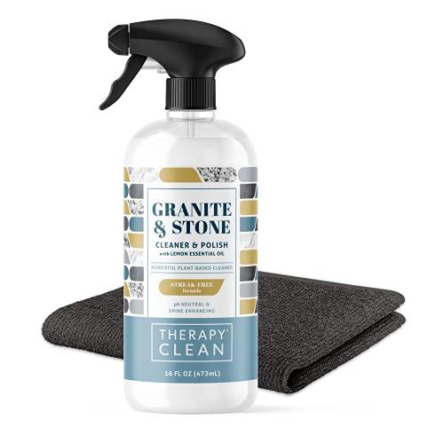 Product Image of the Therapy Granite & Stone Cleaner & Polish Kit - 16 ounces - Daily Clean & Shine for Granite, Marble, Soapstone, Quartz, Quartzite, Slate, Limestone, Corian, Laminate, Tile, and Countertops