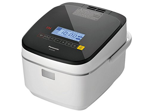 Panasonic 10 Cup (Uncooked) Rice Cooker Steamer with Induction Heating System and Pre-Programmed Cooking Options for Rice and Porridge or Soup - 1.8 Liter - SR-AFG186 (White)