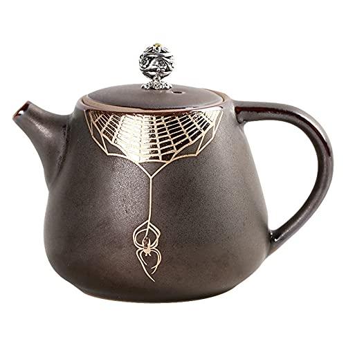 DLRBWAN Tetera Tetera de óxido de Estilo japonés, Tetera cerámica, Fabricante de té, Horno Retro Hecho a Mano, Olla de Gama Alta