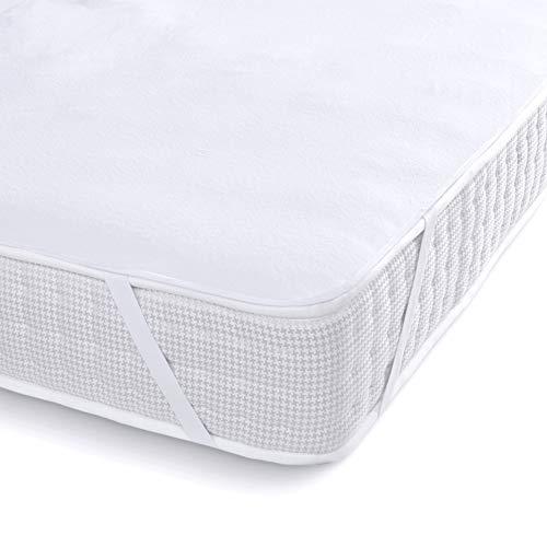 Melunda Wasserdichter Matratzenschoner - 70 x 140 cm Baby Bett - Baumwolle Matratzenauflage - Dermathologisch getestet Anti-Allergie Anti-Milben