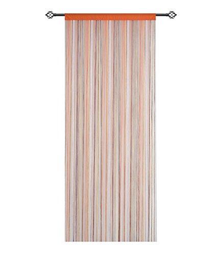 HSYLYM Cortina Espagueti para Puerta,Divisor de habitación,decoración del hogar,poliéster,Arco Iris,90x200cm