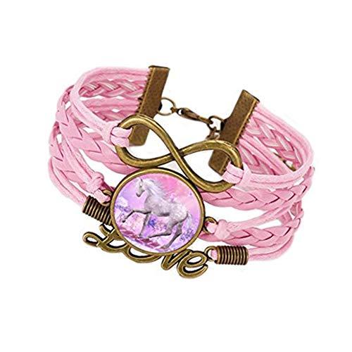 Accesorios hechos a mano pulsera de unicornio kakupao,Pulsera de imagen,Joyería de...