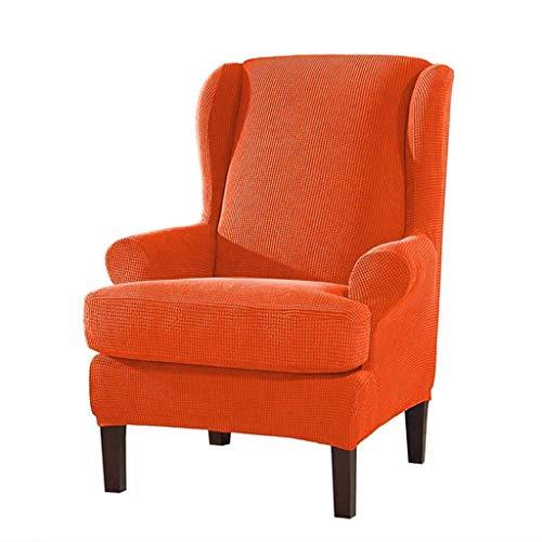 DSDD Funda para sillón de Orejas, 2 Piezas Fundas para sillas de Orejas Spandex Jacquard Protector de Muebles Funda elástica para sofá con Fondo-E