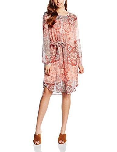 fransa Damen Arflared 2 Dress Kleid, Orange (Fusoin Coral Mix 69167), 38 (Herstellergröße: M)