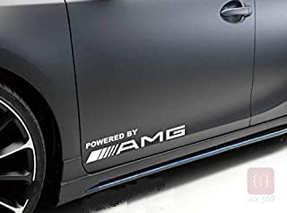 ISEE 360 Powered by Amg Die Cut Water Resistance Stiker for Window Vinyl Decal Sticker (White) -2 Pieces